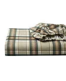 Eddie Bauer Full Plaid Flannel Sheet Set
