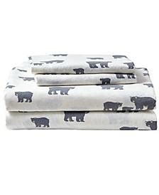 Novelty Print Queen Flannel Sheet Set