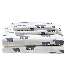 Eddie Bauer Novelty Print Queen Flannel Sheet Set