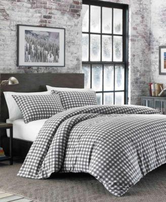 Preston Twin Dark Grey Flannel Comforter Set