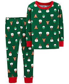 Carter's Toddler Boys 2-Pc. Snug-Fit Cotton Holiday-Print Pajamas