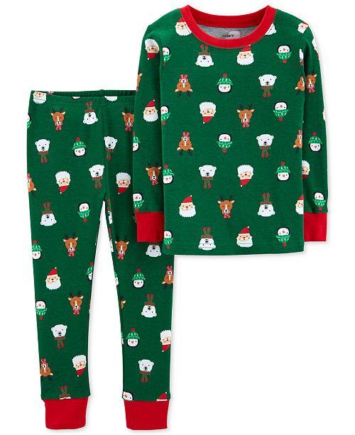 aefb712e8f65 Carter s Toddler Boys 2-Pc. Snug-Fit Cotton Holiday-Print Pajamas ...