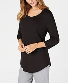 Scoop-Neck Top, Regular & Petite Sizes, Created for Macy's