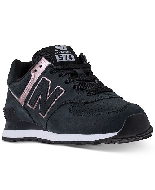 93929b34c53b New Balance Women s 574 Rose Gold Casual Sneakers from Finish Line ...