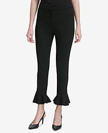 Calvin Klein Ruffled Scuba Pants