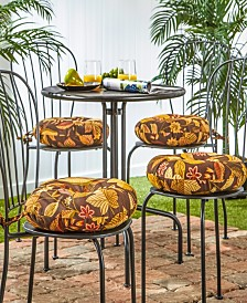 Set of 4 Round Outdoor Bistro Chair Cushion