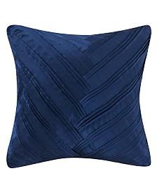 "Vince Camuto Lyon Signature V Pleated 16"" Square Pillow"