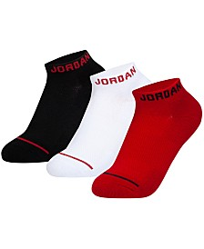 Jordan Little & Big Boys 3-Pk. No-Show Socks