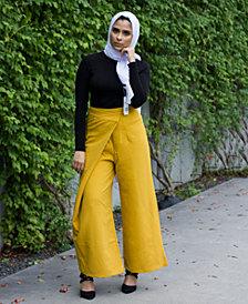 Verona Collection High-Waist Wrap Modest Pants