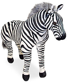 Melissa & Doug Plush Lifelike Giant Striped Zebra
