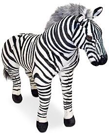 Melissa & Doug Plush Lifelike Giant Striped Zebra