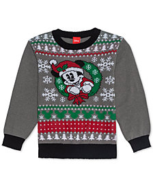 Disney Little Boys Mickey Mouse Holiday Sweater