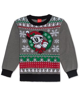 Disney Toddler Boys Mickey Mouse Holiday Sweater Sweaters Kids