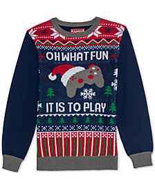 Jem Big Boys Fun to Play Holiday Sweater
