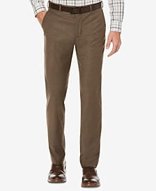 Straight Fit No Iron Flat Front Bengaline Dress Pants