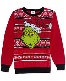 Dr. Seuss Big Boys Grinchmas Sweater