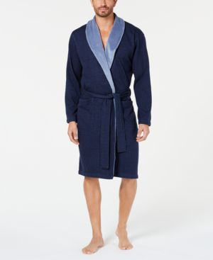 Men'S Robinson Two-Tone Robe in Navy Heather