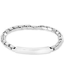 EFFY® Men's ID Plate Box Link Bracelet in Sterling Silver