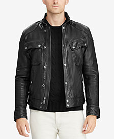 Polo Ralph Lauren Men's Leather Biker Jacket