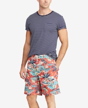 0709ba4c57c5e Polo Ralph Lauren Men'S Big & Tall Kailua Tropical Swim Trunks In Vintage  Palm Island