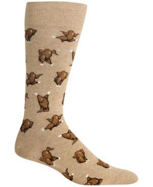 HOT SOX Men'S Turkey Fair Isle Socks in Hemp Heather