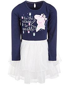 Peppa Pig Little Girls Layered-Look Holiday Tutu Dress