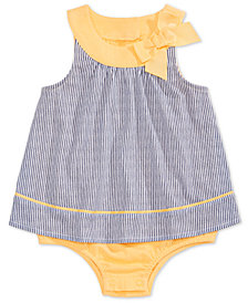 First Impressions Baby Girls Twill-Stripe Skirted Romper, Created for Macy's