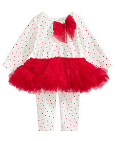 First Impressions Baby Girls Tutu Top & Leggings Set, Created for Macy's