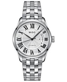Mido Men's Swiss Automatic Belluna II Stainless Steel Bracelet Watch 40mm