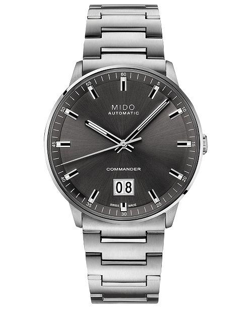 Mido Men's Swiss Automatic Commander II BigDate Stainless Steel Bracelet Watch 42mm