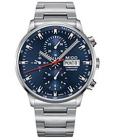 Men's Swiss Automatic Commander Stainless Steel Bracelet Watch 42.5mm