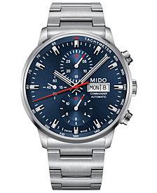 Mido Men's Swiss Automatic Commander Stainless Steel Bracelet Watch 42.5mm