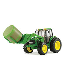 Tomy - 1-16 Scale Big Farm John Deere 7330 With Front Bale Mover And Bale