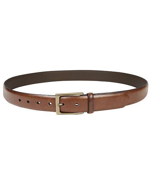 Tasso Elba Men's Feather-Edge Belt, Created for Macy's