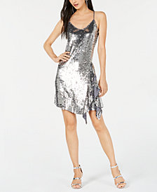 Bar III Sequin Slip Dress, Created for Macy's