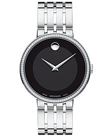 Movado Men's Swiss Esperanza Diamond (1/3 ct. t.w.) Stainless Steel Bracelet Watch 39mm