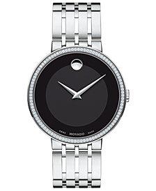 Movado Men's Swiss Esperanza Diamond (1/3 ct. t.w.) Stainless Steel Bracelet Watch 39mm