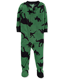 Carter's Baby Boys Dino-Print Footed Pajamas