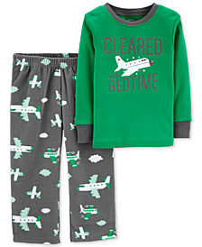 Carter's Toddler Boys 2-Pc. Airplane Pajamas