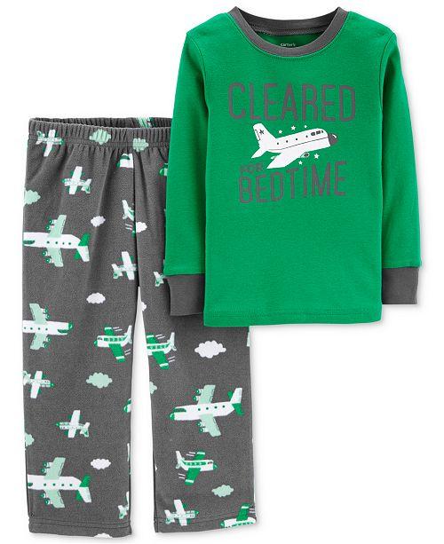 e12437cb6bf8 Carter s Toddler Boys 2-Pc. Airplane Pajama Set - Pajamas - Kids ...