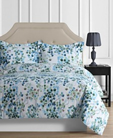 Madrid Printed Leaves Oversized Twin Duvet Cover Set
