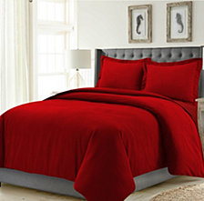 Madrid Solid Oversized King Duvet Cover Set