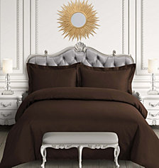 Egyptian Cotton 600 Thread Count Oversized Queen Duvet Cover Set