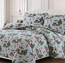 Snowman Cotton Flannel Printed Oversized Duvet Sets