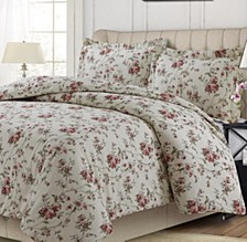 Dollhouse Floral Heavyweight Cotton Flannel Oversized Queen Duvet Set