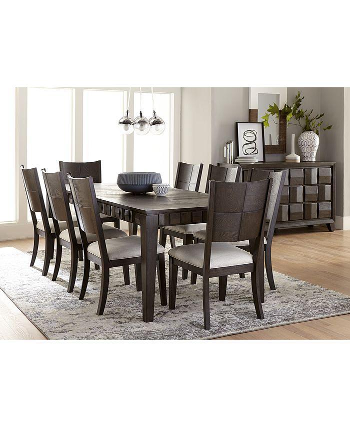 Homefare Matrix Dining Furniture 9 Pc, Macys Dining Room Chairs