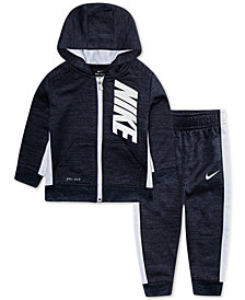 Nike Baby Boys 2-Pc. Therma-FIT Striped Jacket & Pants Set