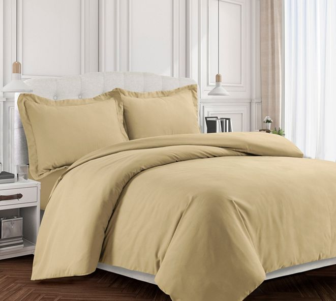 Tribeca Living Valencia Microfiber Oversized King Duvet Cover Set