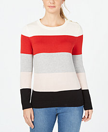 Charter Club Striped Pullover Sweater, Created for Macy's