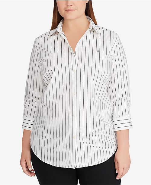 2eb6153b Lauren Ralph Lauren Plus Size Striped Shirt & Reviews - Tops - Plus ...